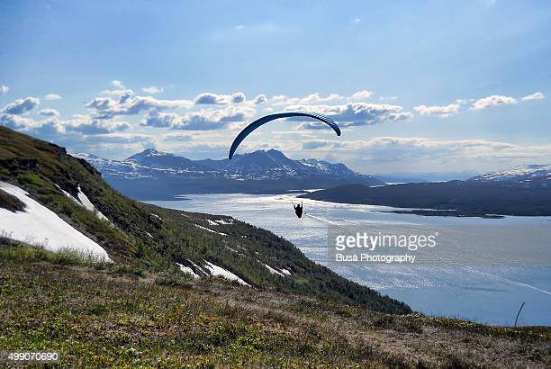 Paragliding in Tromso, Norway