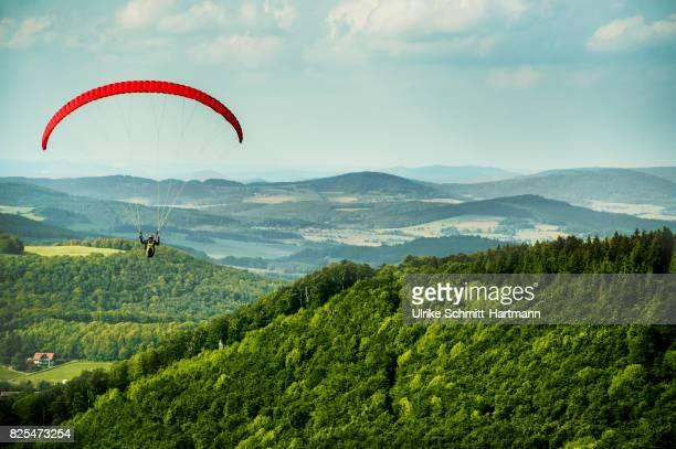 Paragliding in uplands