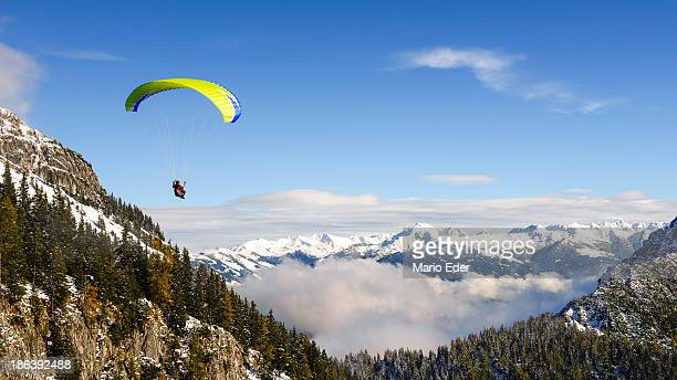 Paragliding in winter