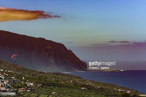Paragliding over El Golfo, El Hierro, Canary Islands