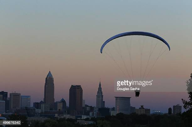Paragliding over the skyline