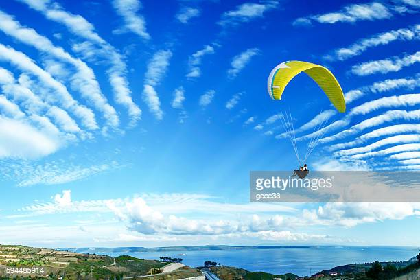 paragliding - glider stock photos and pictures