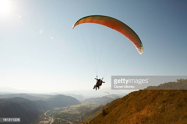 Paragliding take off.