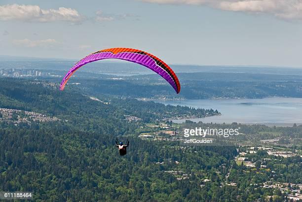 Paragliding Toward Lake Sammamish