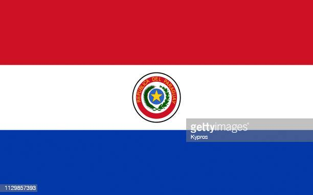 paraguay flag - paraguay stock pictures, royalty-free photos & images