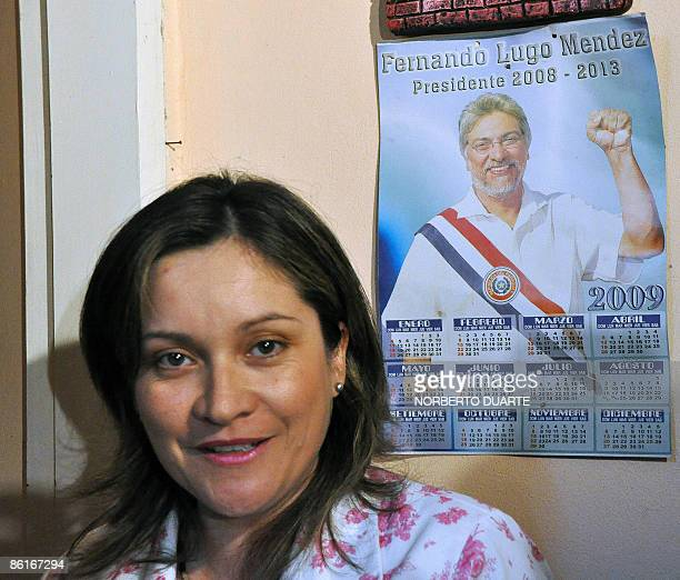 Paraguayan Damiana Hortensia Moran Amarilla speaks during a press conference on April 22 2009 in San Lorenzo Paraguay Moran is the third woman to...