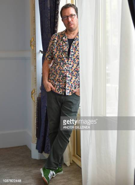 Paraguayan director Marcelo Martinessi poses to promote his film 'Las herederas' during the 66th San Sebastian Film Festival in the northern Spanish...