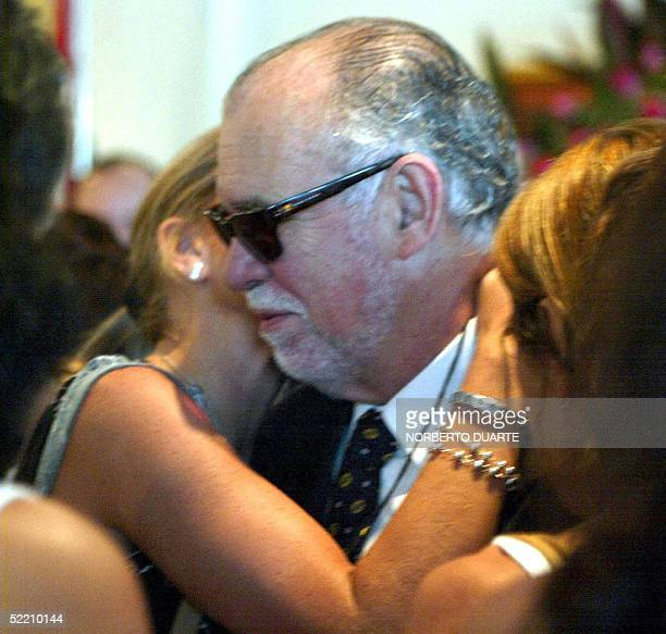 Paraguayan former President Raul Cubas arrives to the wake of his daughter Cecilia Cubas in Asuncion 17 February 2005 Five months after she was...