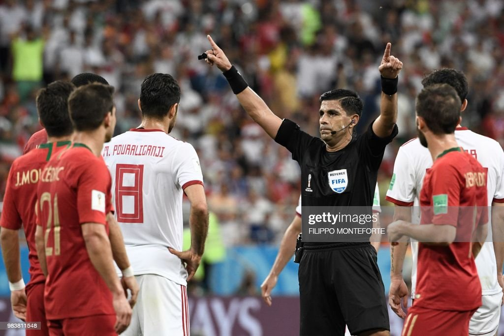 FBL-WC-2018-MATCH35-IRI-POR : News Photo