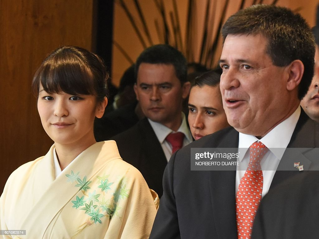 PARAGUAY-JAPAN-CARTES-PRINCESS MAKO : News Photo
