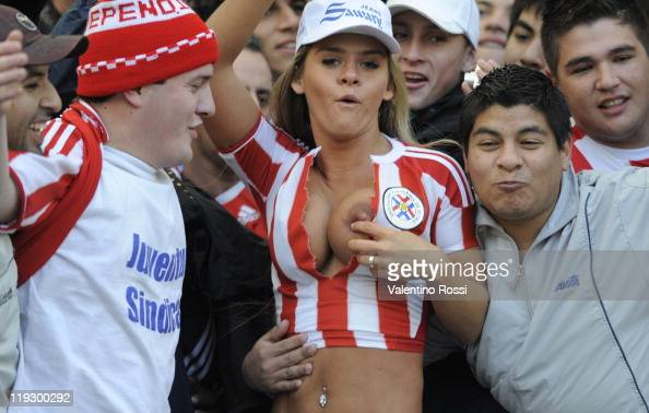 Hot and Crazy Football Fans at Copa America