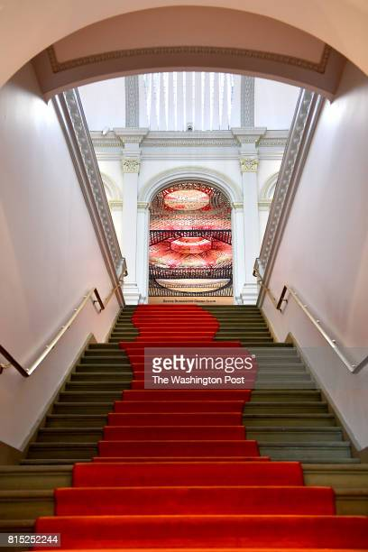 Parallax Gap in the Renwick Gallery's Bettie Rubenstein Grand Salon is seen from the museum's entrance June 27 2017 in Washington DC The work by...