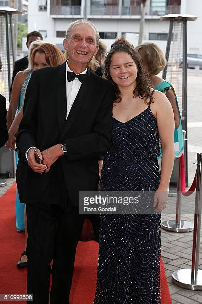 Paralymipc swimmer Mary Fisher arrives at the 2016 Halberg Awards at Vector Arena on February 18 2016 in Auckland New Zealand