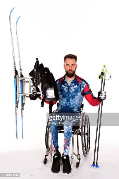 Paralympian Aaron Pike poses for a portrait during the Team USA PyeongChang 2018 Winter Olympics portraits on April 29 2017 in West Hollywood...