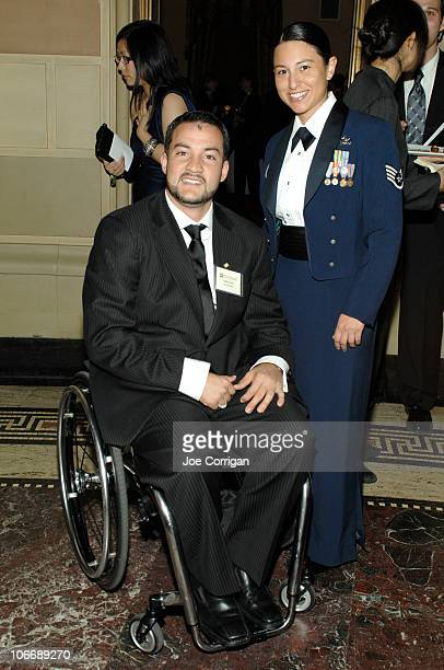 Paralympian and Iraq Veteran Carlos Leon and Vanessa Leon attend the Iraq and Afghanistan Veterans of America Annual Heroes Gala at Gotham Hall on...