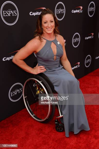Paralympian athlete Tatyana McFadden attends the 2018 ESPY Awards Red Carpet Show Live Celebrates With Moet Chandon at Microsoft Theater on July 18...