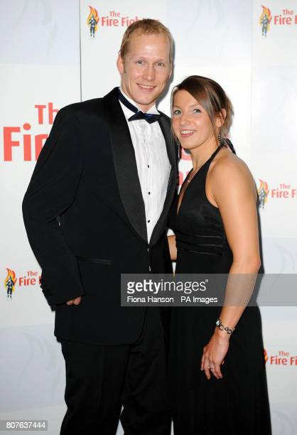 Paralympian gold medal swimmers, Nyree Lewis and Sascha Kindred, who are engaged to be married, who presented awards during the Spirit of Fire Awards...