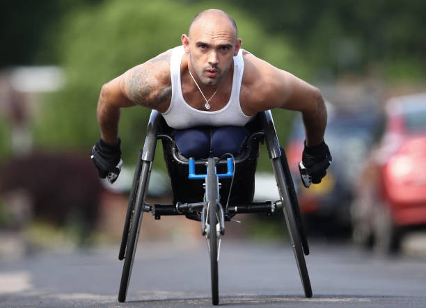 GBR: GB Paralympian Johnboy Smith Training at Home during the Coronavirus Pandemic