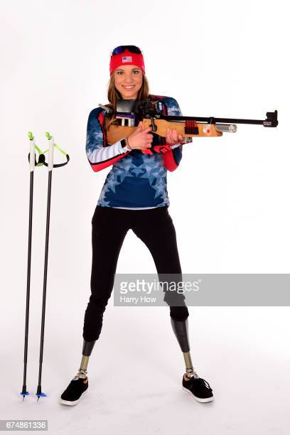 Paralympian Oksana Masters poses for a portrait during the Team USA PyeongChang 2018 Winter Olympics portraits on April 29 2017 in West Hollywood...