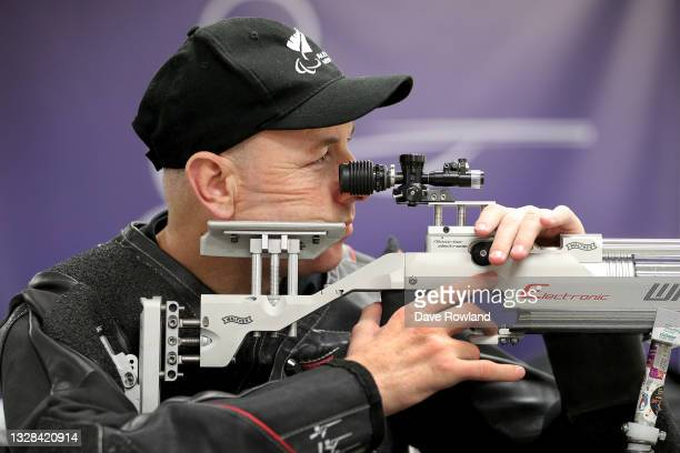 Paralympian shooter Michael Johnson during the New Zealand Paralympic Team - Para shooting sport selection announcement at the Parafed Auckland...