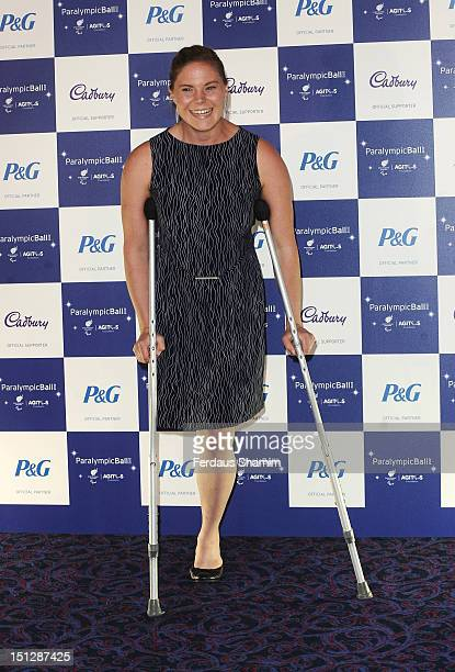 Paralympian Stephaine Dixon arrives at the 2012 Paralympic Ball at Grosvenor House on September 5 2012 in London England