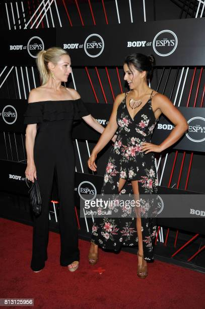 Paralympian Swimmer Victoria Arlen and TV personality Lindsay Czarniak at BODY at ESPYS at Avalon on July 11 2017 in Hollywood California
