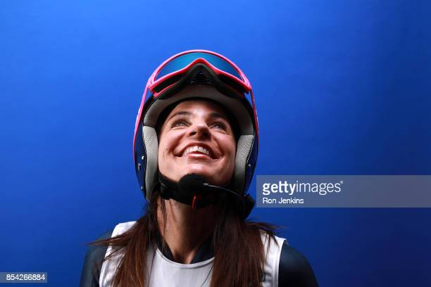 Paralympic Alpine Skier Danelle Umstead poses for a portrait during the Team USA Media Summit ahead of the PyeongChang 2018 Olympic Winter Games on...