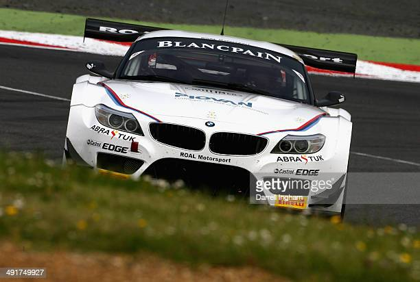 Paralympic champion and double amputee Alex Zanardi of Italy drives the ROAL Motorsport BMW Z4 using hand controls during practice for the Blancpain...