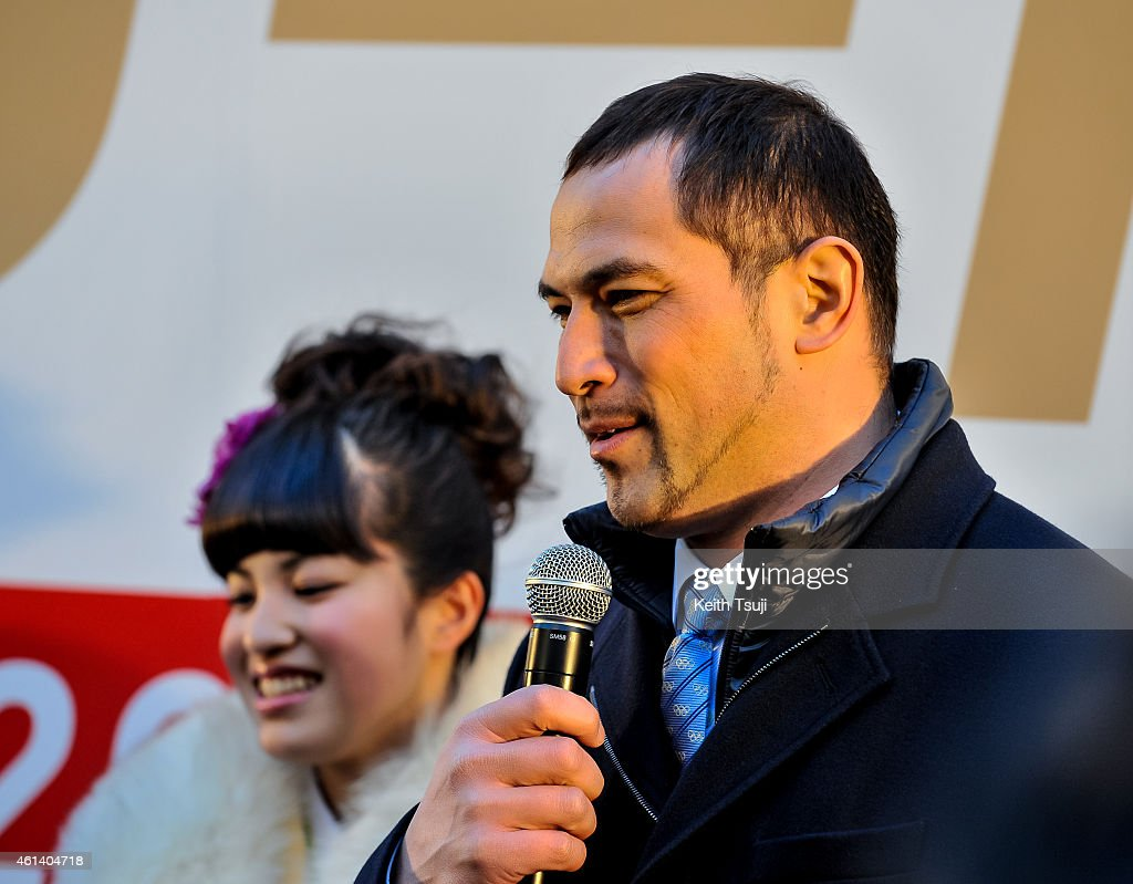 Paralympic cyclist Miho Fujii (L) and hammer thrower and Sports Director Koji Murofushi attend The '2020 Days to Tokyo 2020' Event on January 12, 2015 in Tokyo, Japan. The Tokyo 2020 Organizing Committee and the Tokyo Metropolitan Government celebrate to mark the '2020 Days to Tokyo 2020,' with 20 year-old Tokyoites, which coincides with Coming of Age Day in Japan when those who have turned 20 years old in the past year gather to mark reaching the age of majority.