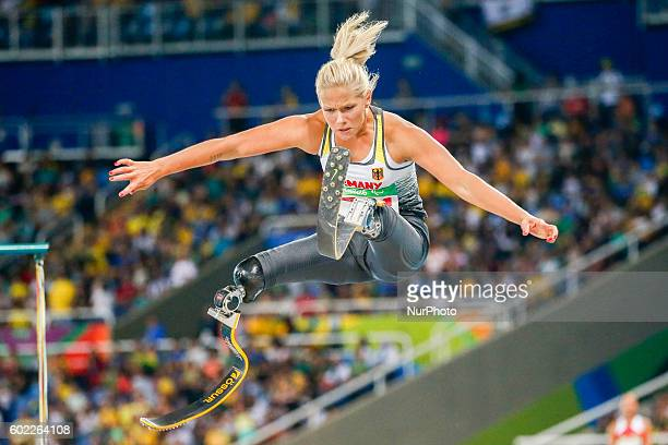 Paralympic Games Rio 2016 Women's long Jump T42 Vanessa Low competes in the womens long jump final at Stadio Olimpico João Havelange on September 10...