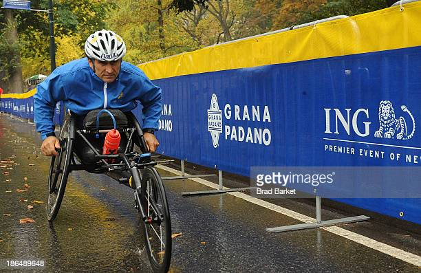 Paralympic gold medalist and Racing Great Alex Zanaradi attends the Grana Padano Events NYC MArathon Events on October 31 2013 in New York City