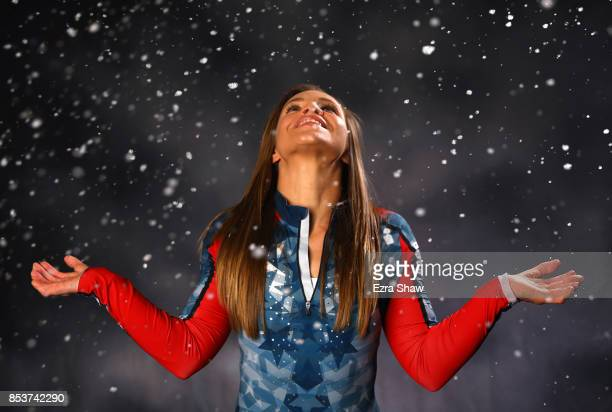 Paralympic Nordic Skiier Oksana Masters poses for a portrait during the Team USA Media Summit ahead of the PyeongChang 2018 Olympic Winter Games on...