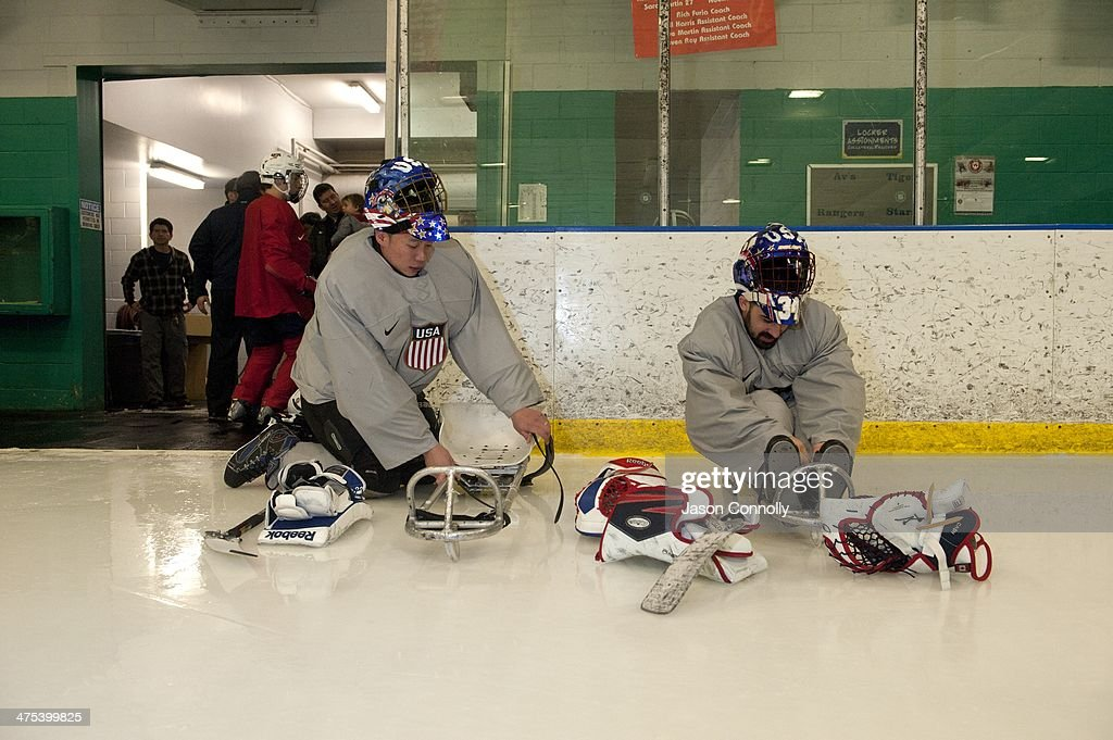 U.S. Paralympics Sled Hockey Team Prepare For Sochi