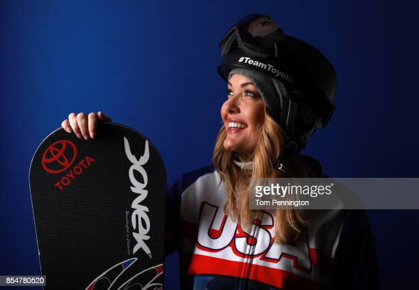 Paralympic Snowboarder Amy Purdy poses for a portrait during the Team USA Media Summit ahead of the PyeongChang 2018 Olympic Winter Games on...