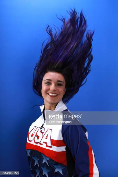 Paralympic Snowboarder Brenna Huckaby poses for a portrait during the Team USA Media Summit ahead of the PyeongChang 2018 Olympic Winter Games on...