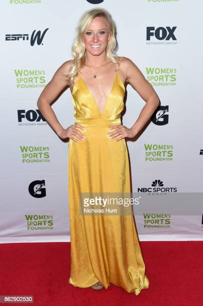 Paralympic Swimmer Jessica Long attends the The Women's Sports Foundation's 38th Annual Salute To Women in Sports Awards Gala on October 18 2017 in...