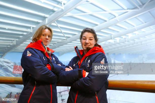 ParalympicsGB guide Jennifer Kehoe and Menna Fitzpatrick during the ParalympicsGB 2018 Winter Olympics Alpine Skiing and Snowboard team announcement...