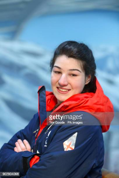 ParalympicsGB skier Menna Fitzpatrick during the ParalympicsGB 2018 Winter Olympics Alpine Skiing and Snowboard team announcement at The Snowcentre...