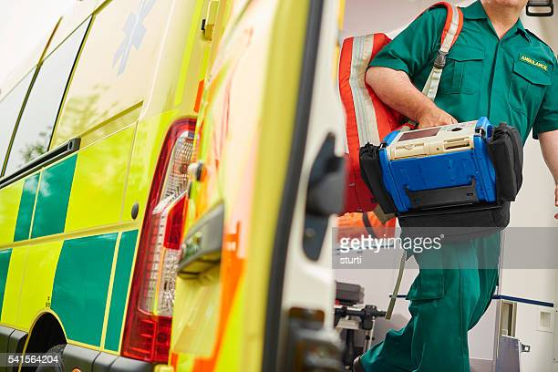paramedic and ambulance - uk stock pictures, royalty-free photos & images