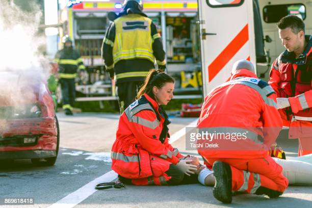 Paramedic Doctor Examining