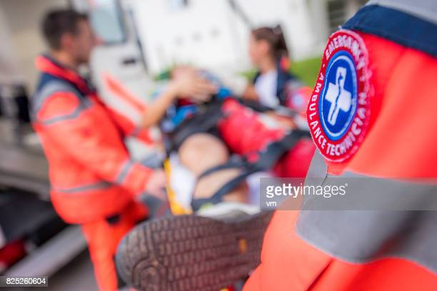 paramedic team - rescue services occupation stock photos and pictures