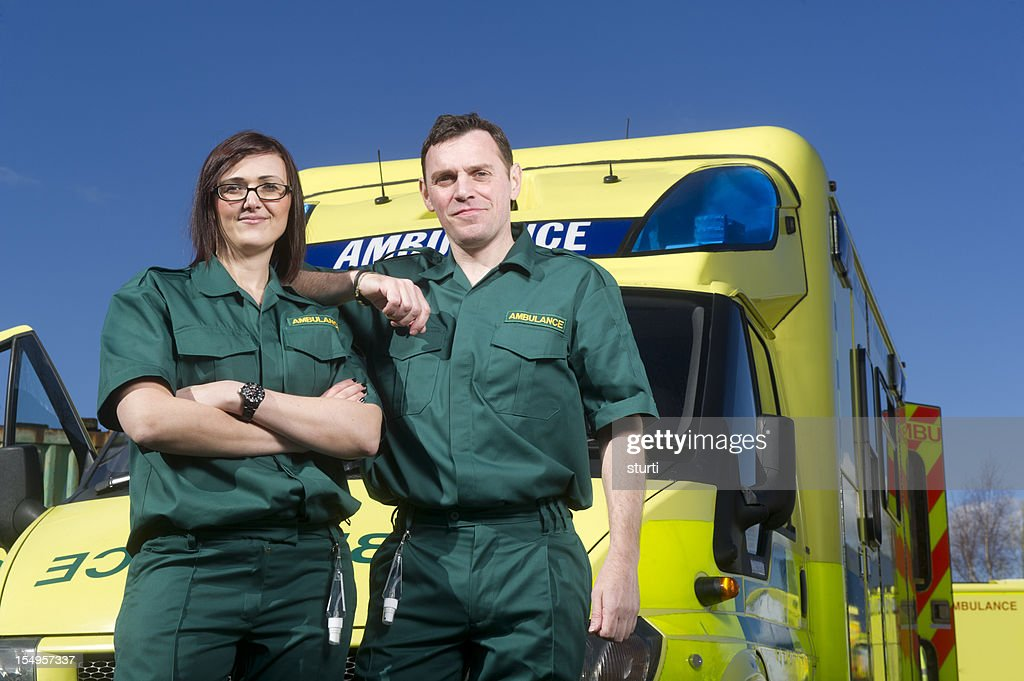 Paramedic teamwork : Stock Photo