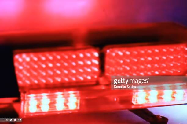 paramedic vehicle flashing lights for emergency - streaker stock pictures, royalty-free photos & images
