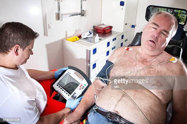 Paramedics ambulance emergency first aid ecg