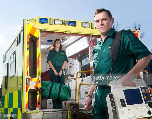 Paramedics at work