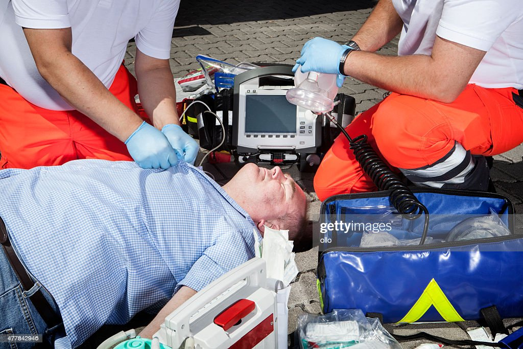 Paramedics Cpr Medical Equipment Emergency First Aid Stock