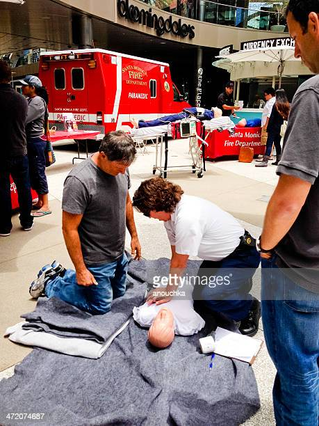 Paramedics Training Event for Public in Santa Monica Downtown