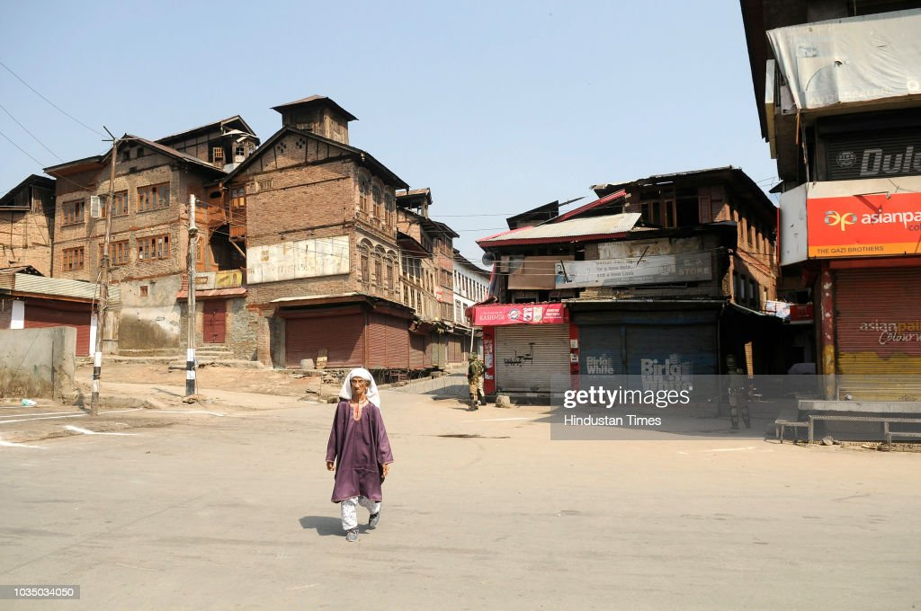 Shutdown Called By Separatist Leaders Against The Recent Civilian And Militant Killings In South Kashmir
