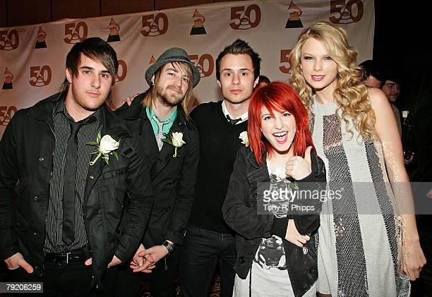Paramore and Taylor Swift at the Grammy Nominee Party at Lowes Vanderbilt Hotel January 22, 2008 in Nashville, Tennessee.