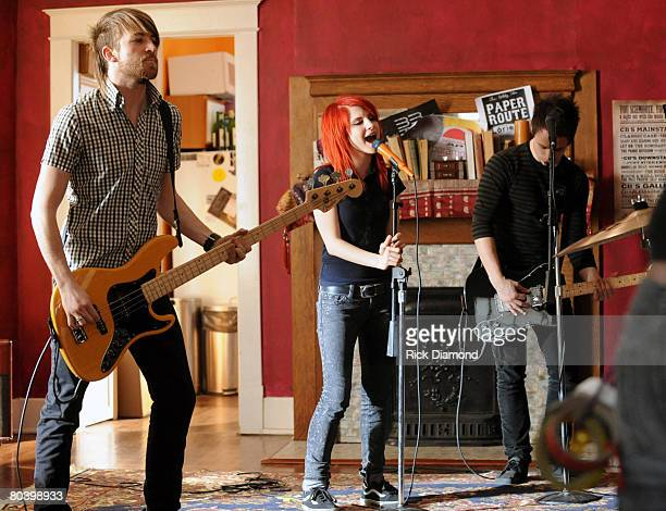 """Paramore's """"That's What You Get"""" video shoot directed by Marcos Siega on Record Label: Fueled by Ramen. Paramore band members are Hayley Williams,..."""